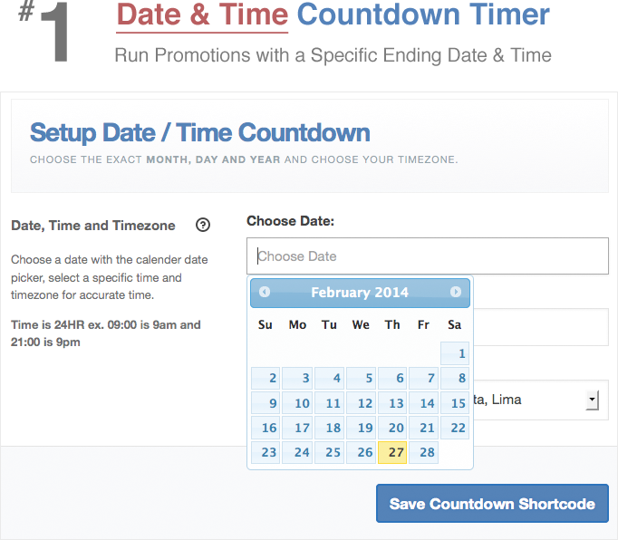 how to add a countdown time to page
